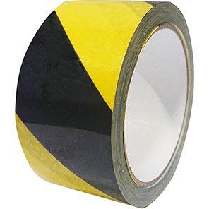 Black/Yellow Self-Adhesive Vinyl Hazard Warning Tape
