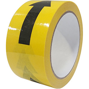Faithfull Black/Yellow Social Distancing Arrow Wall Tape 33m