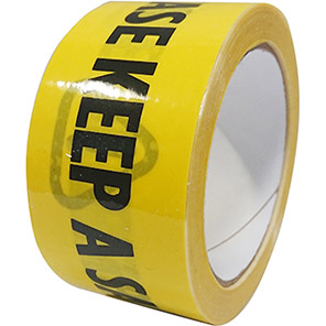 """Yellow/Black """"Please Keep A Safe Distance"""" Social Distancing Wall Tape"""
