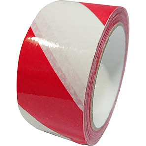 Red/White Self-Adhesive Vinyl Hazard Warning Tape