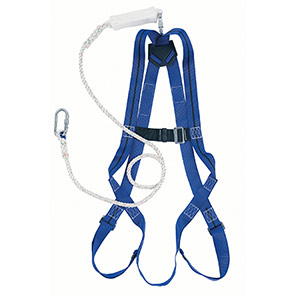 Honeywell Miller Titan One-Point Safety Harness with 2m Energy-Absorbing Lanyard