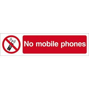 "Spectrum Industrial Self-Adhesive PVC ""No Mobile Phones"" Sign"