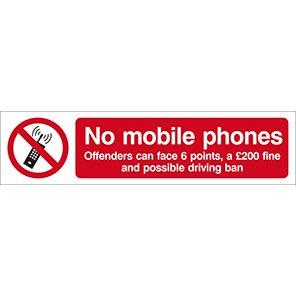 "Spectrum Industrial ""No Mobile Phones"" Sign (Pack of 2)"