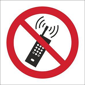 Spectrum Industrial Self-Adhesive No Mobile Phones Symbol Sign