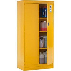 Link 51 Three-Shelf Yellow Hazardous-Substance Storage Cabinet