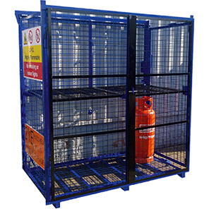 Single-Piece Folding Gas Cage