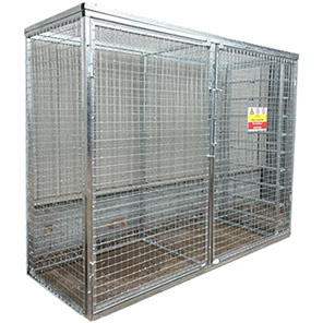 Galvanised Modular Gas Cage