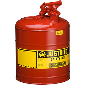 Justrite Red Metal Safety Can