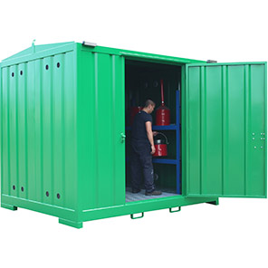 Empteezy Chemstor 3m Walk-In Bunded Chemical Storage Container