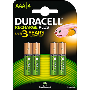 Duracell Duralock Rechargeable AAA Batteries (Pack of 4)