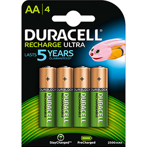 Duracell Duralock Rechargeable AA Batteries (Pack of 4)