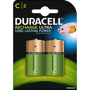 Duracell NIMH Rechargeable C Batteries (Pack of 2)