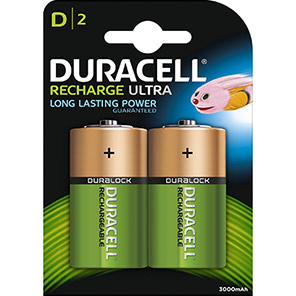 Duracell NIMH Rechargeable D Batteries (Pack of 2)