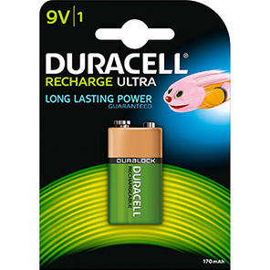 Duracell NIMH Rechargeable 9V Battery
