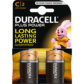 Duracell Plus Power C Batteries (Pack of 2)