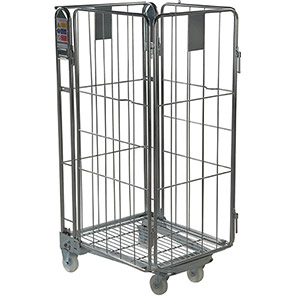 Palletower Four-Sided Nestable Wheeled Storage Cage
