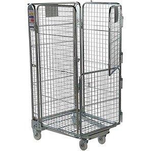 Palletower Four-Sided Split-Gate Wheeled Storage Cage