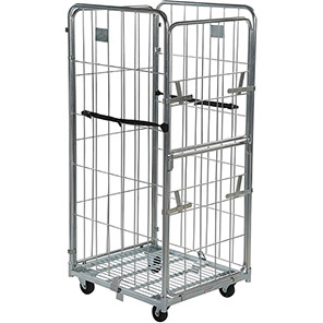 Palletower Four-Sided Collapsible Wheeled Storage Cage 1545mm