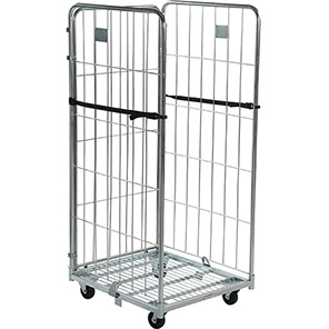 Palletower Three-Sided Collapsible Wheeled Storage Cage 1715mm