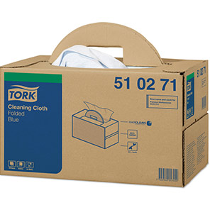 Tork Blue Cleaning Cloths with Handy Box