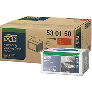 Tork White Heavy-Duty Cleaning Cloth Pack (Case of 8)
