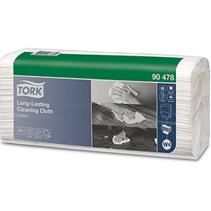Tork White Long-Lasting Cleaning Cloth Pack (Box of 5)