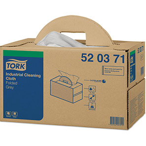 Tork Grey Industrial Cleaning Cloths with Handy Box