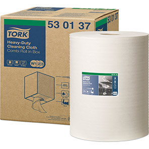 Tork White Heavy-Duty Cleaning Cloths Roll