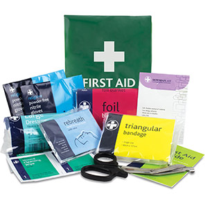 Reliance Medical British-Standard Vinyl Pouch Personal-Issue First Aid Kit