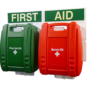 British-Standard Green Evolution Catering First Aid Point