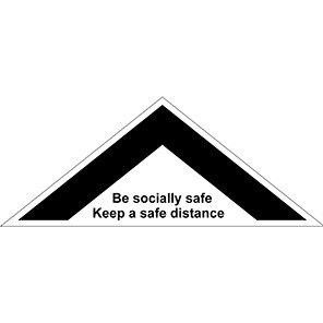 """Spectrum Industrial """"Keep Safe Distance"""" 1m Distancing Floor Graphic 500mm"""
