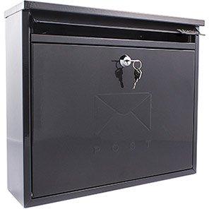 Sterling Elegance Black Wall-Mounted Post Box