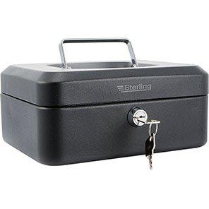 Sterling Black 8in Cash Box