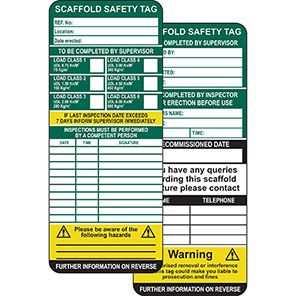 ClawTag Scaffolding Safety Management Insert Tag (Pack of 50)