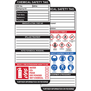 AssetTag MAX Chemical Safety Insert Tag Packs