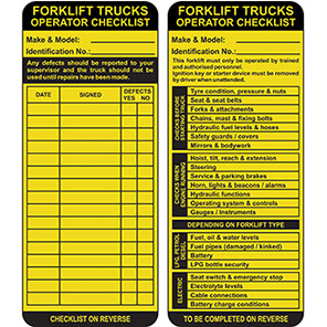 AssetTag MAX Yellow Forklift Insert Tag Packs
