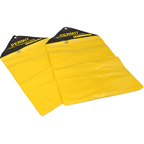 Matlock Yellow A4 Permit Wallets (Pack of 10)