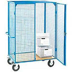 GPC Heavy-Duty Wheeled Storage Cage Shelf