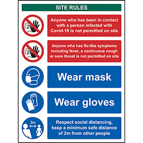 Covid -19 Workplace Safety Sign (400 x 300mm) Sign Orientation Portrait Length (mm) 400 Width (mm) 300
