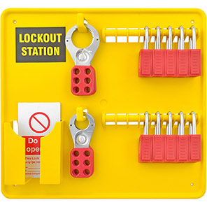 Premier 10-Padlock Lockout Station