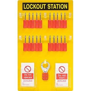 Premier 20-Padlock Lockout Station