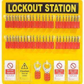Premier 48-Padlock Lockout Station