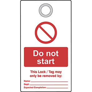 """Double-Sided """"Do Not Use Energy Source Locked Out"""" Lockout Tags (Pack of 10)"""