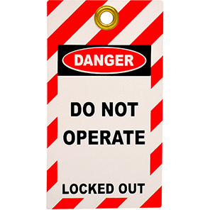 """Double-Sided """"Do Not Operate"""" Lockout Tag (Pack of 10)"""