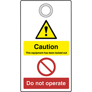 """Double-Sided """"Caution Do Not Operate"""" Lockout Tag"""
