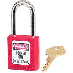 Master Lock Zenex Red Steel Lockout Padlock