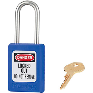 Master Lock Zenex Blue Steel Lockout Padlock