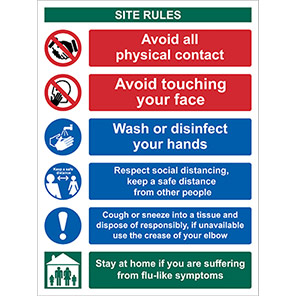 """Spectrum Industrial """"Site Safety/Keep a Safe Distance"""" Social Distancing Sign"""