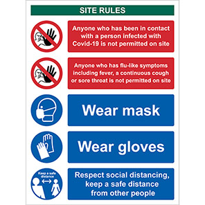 Spectrum Industrial PVC Workplace Site Safety Social Distancing Sign