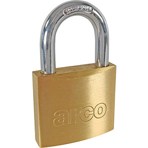 Arco Keyed-to-Differ Brass Padlock
